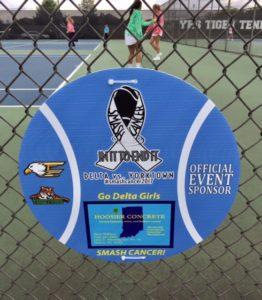 SmashCancer ball sponsor sign